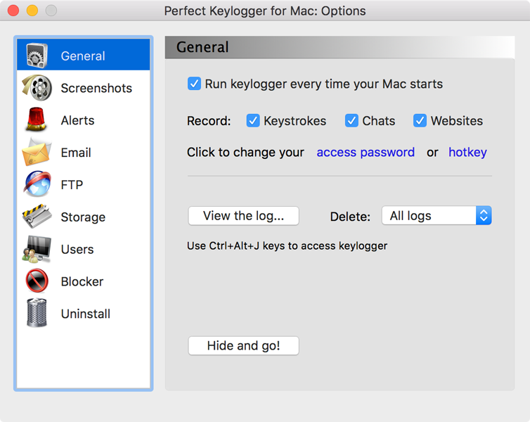 Perfect Keylogger for Mac Pro