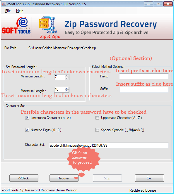 eSoftTools ZIP Password Recovery