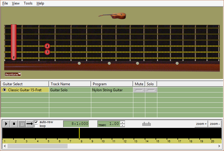 Midi Tab Player