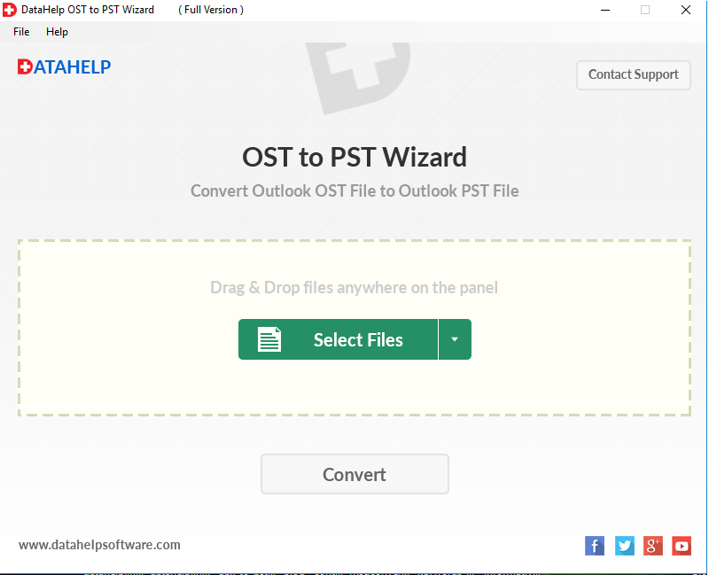 DataHelp OST to PST Converter Wizard