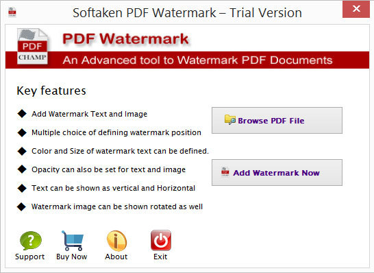 Softaken PDF Watermark