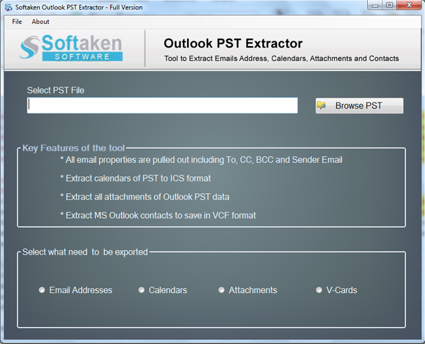 Softaken Outlook Attachment Extractor