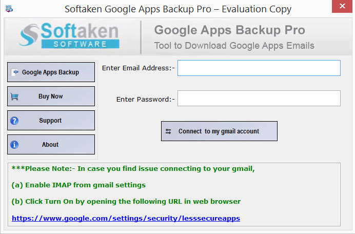 Softaken G Suite Backup Tool