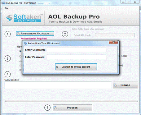 Softaken AOL Backup