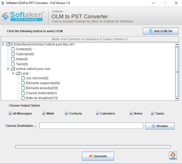 Mac OLM to PST Converter Application
