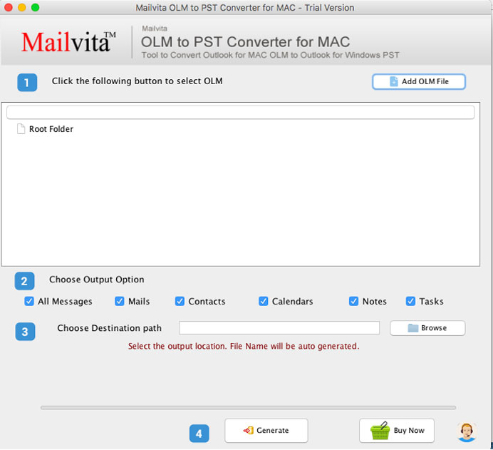 ToolsCrunch Mac OLM to PST Converter
