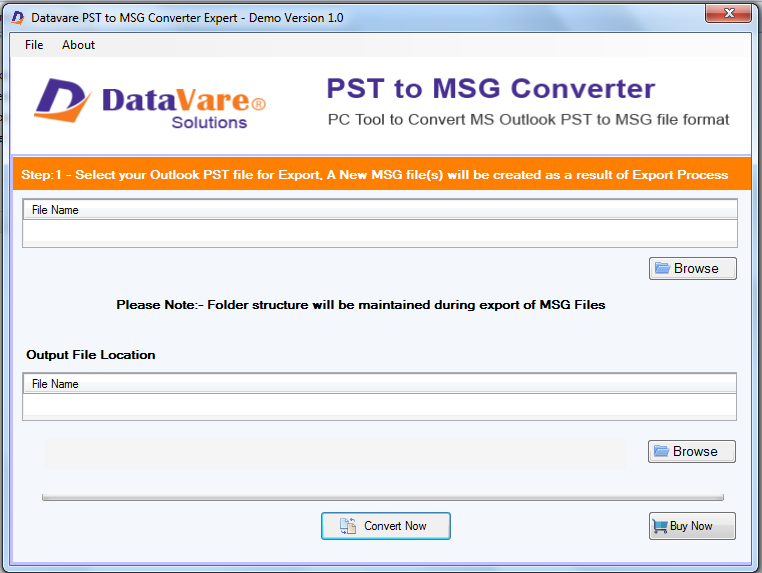 Toolsbaer PST to MSG Conversion Tool
