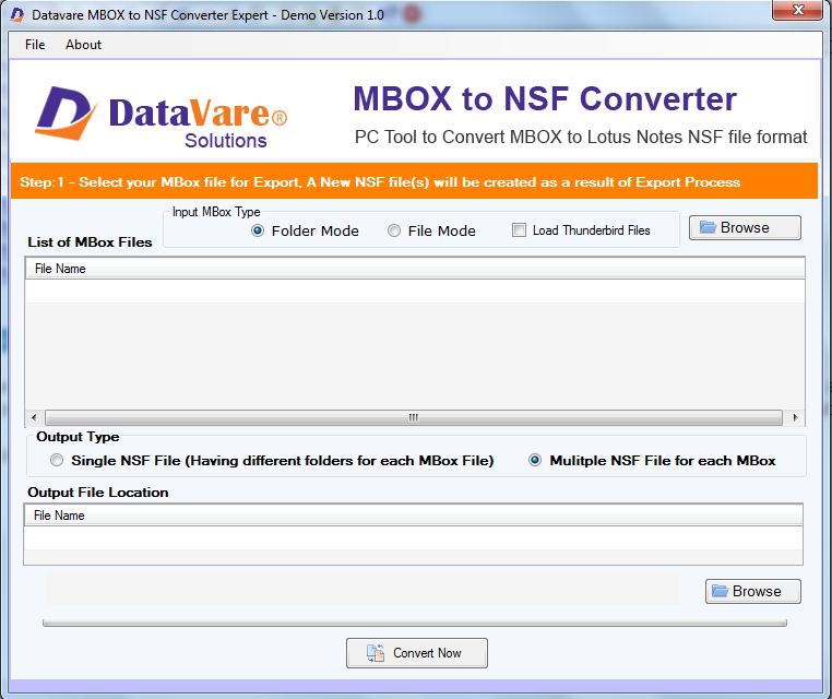 Toolsbaer MBOX to NSF Conversion Tool