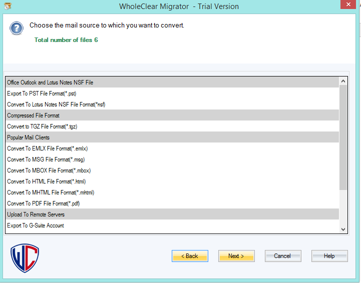 WholeClear EML to MSG Converter