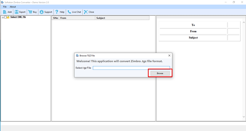 Softaken Zimbra to Outlook Converter