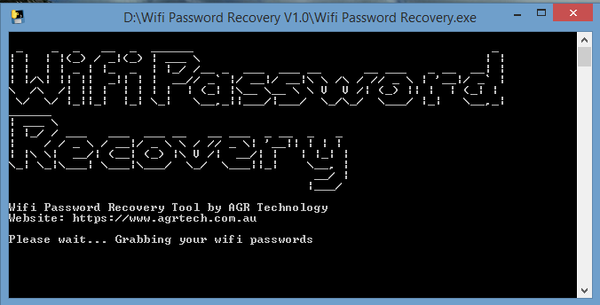 WiFi Password Recovery Tool
