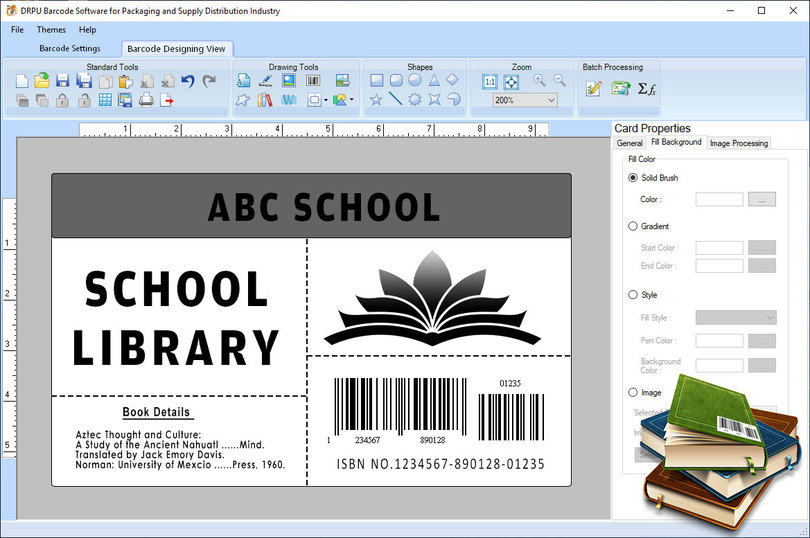Library Barcode Label Software