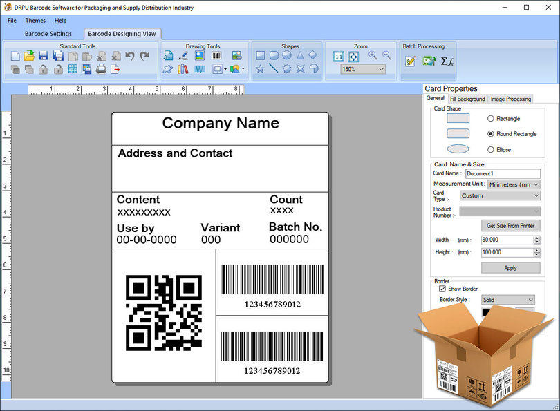Packaging Barcode Label Software