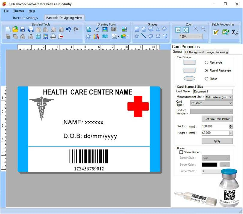 Medical Industry Barcode labels Software