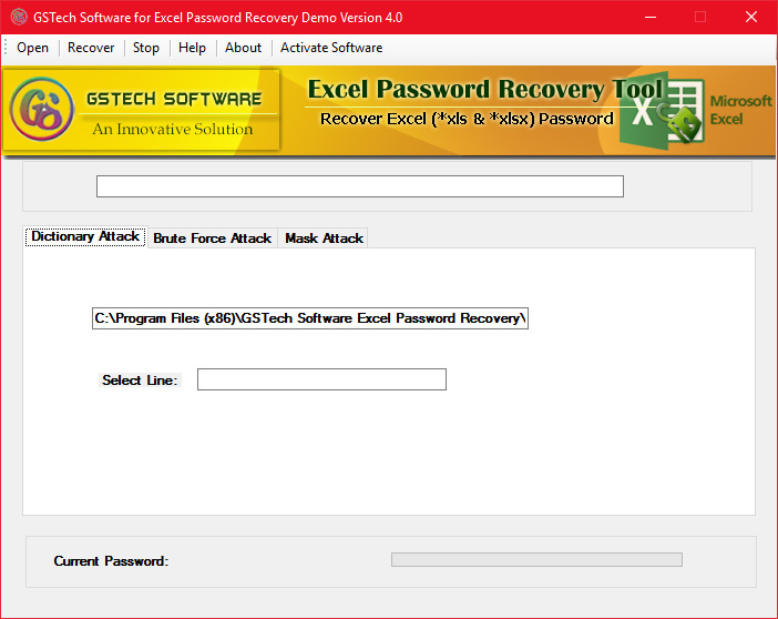 recover an excel password