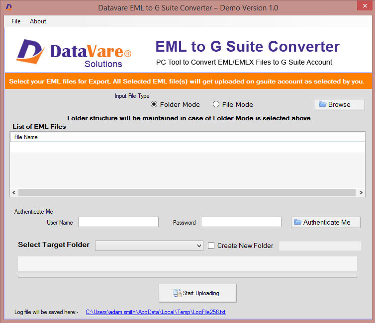 Datavare EML to G Suite Converter Softwa