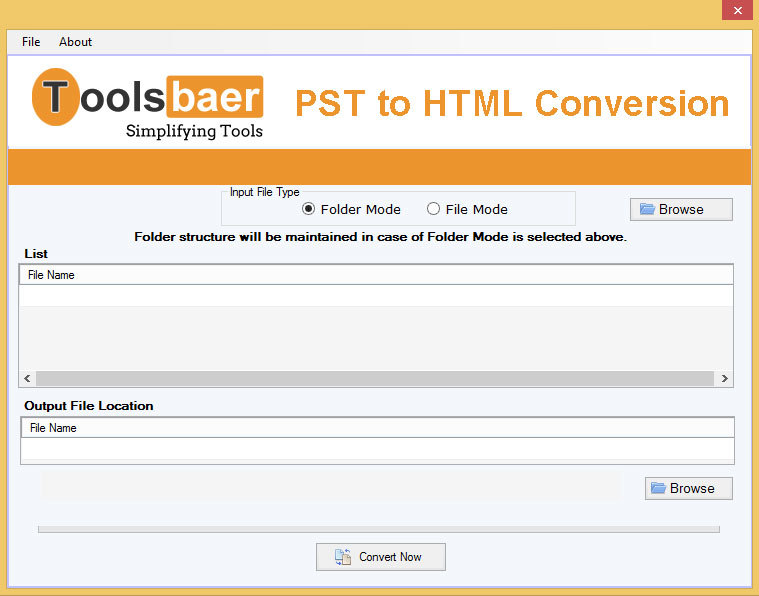 ToolsBaer PST to HTML Conversion