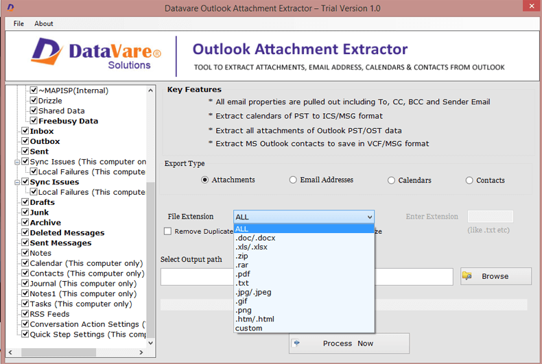 Datavare Outlook Attachment Extractor