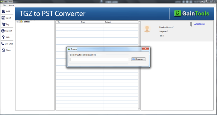 GainTools TGZ to PST Converter