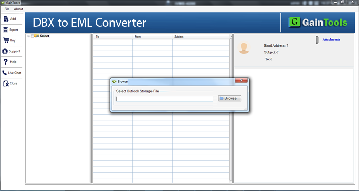 GainTools DBX to EML Converter