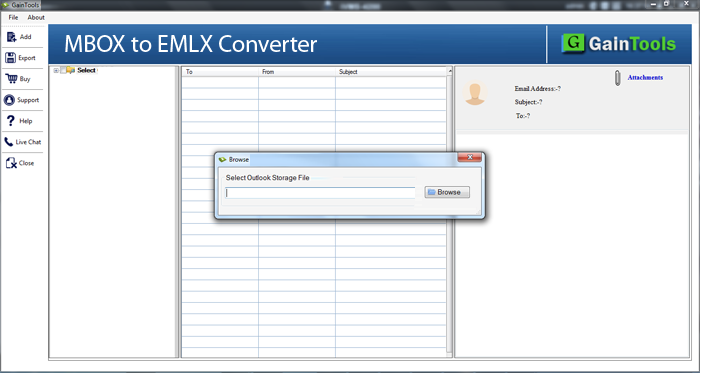 GainTools MBOX to EMLX Converter