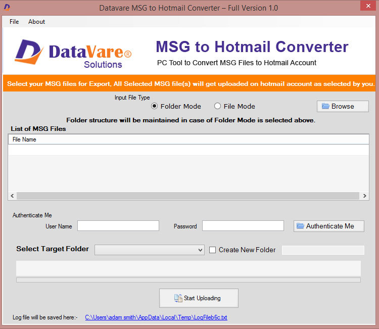 Datavare MSG to Hotmail Converter