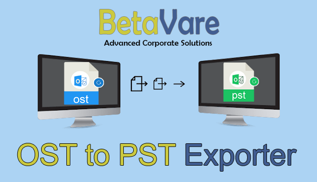 Betavare Export OST file data to PST format