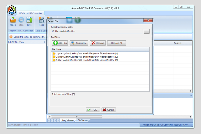 DRF MBOX to PST Converter