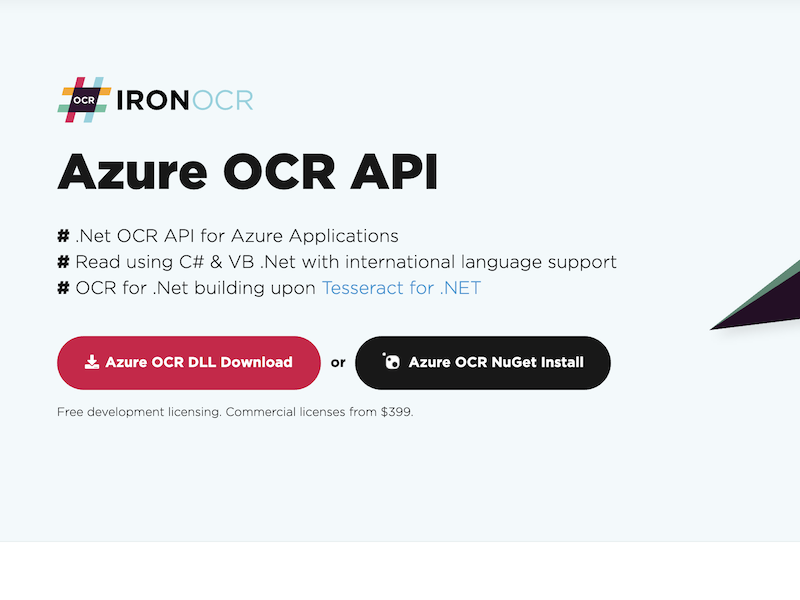 Azure OCR Product