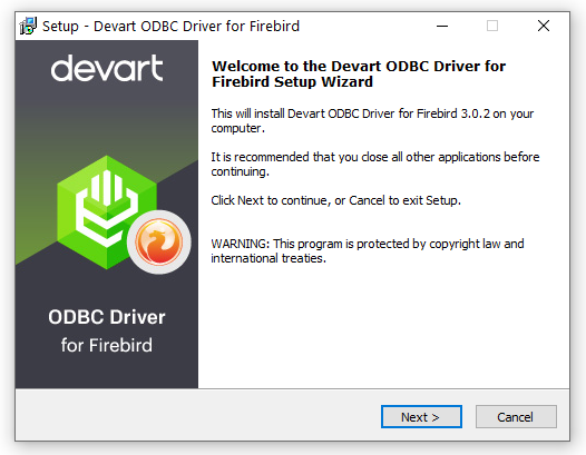 Devart ODBC Driver for Firebird