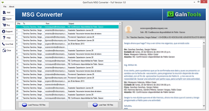 SameTools MSG Conversion Outil
