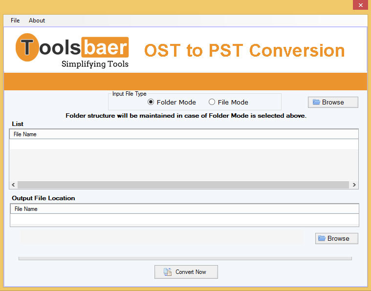 ToolsBaer OST to PST Conversion