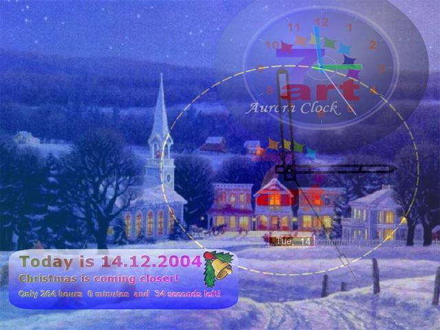 7art Xmas Clock ScreenSaver