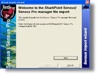 Sensus/Sensus Pro Manager logbook Import for SharkPoint for Windows