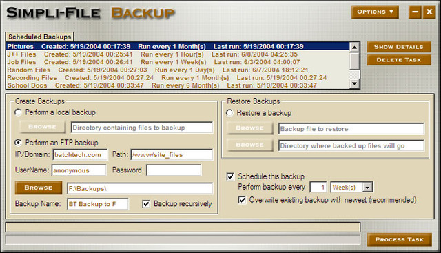Simpli-File Backup