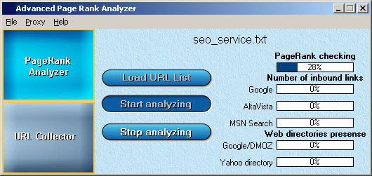Advanced Page Rank Analyzer