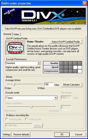DivX Player (with DivX Codec) for 98/Me