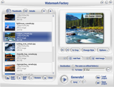 Watermark Factory – advanced watermark creator