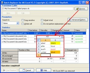 Batch Replacer for MS Excel