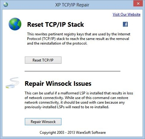 XP TCP/IP Repair