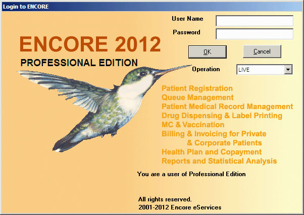 ENCORE Clinic Software