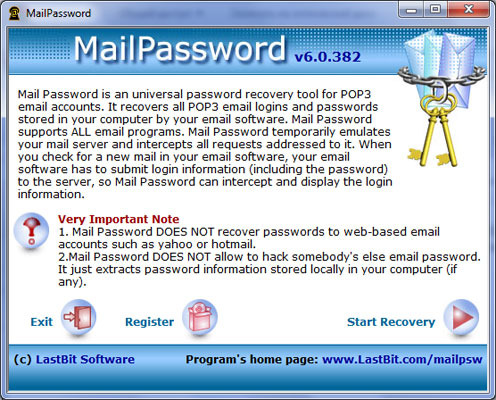 LastBit Mail Password Recovery