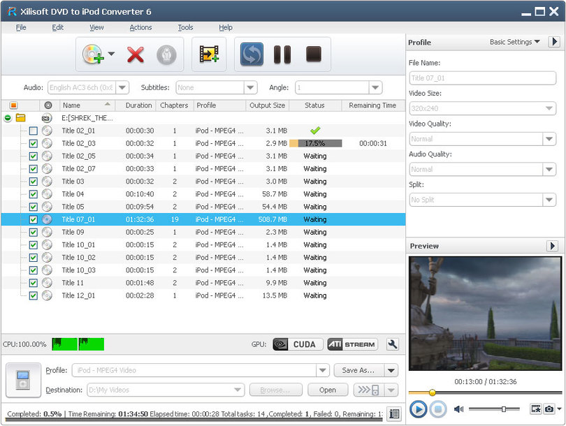 Xilisoft DVD to iPod Converter