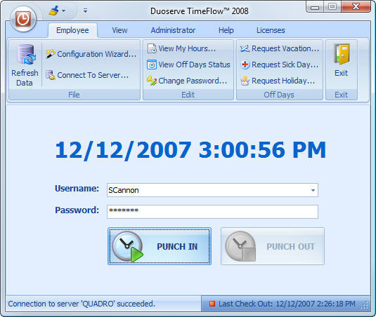 Punch Clock 2005 – TimeFlow