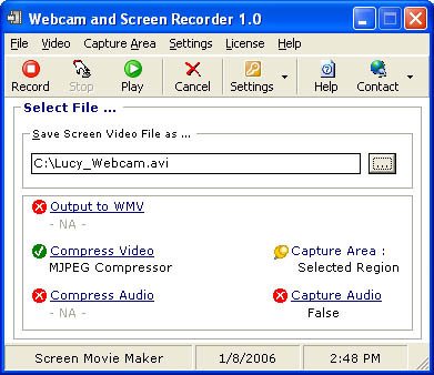 Webcam and Screen Recorder