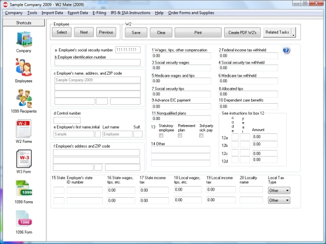 W2 Mate-W2 1099 Forms Software