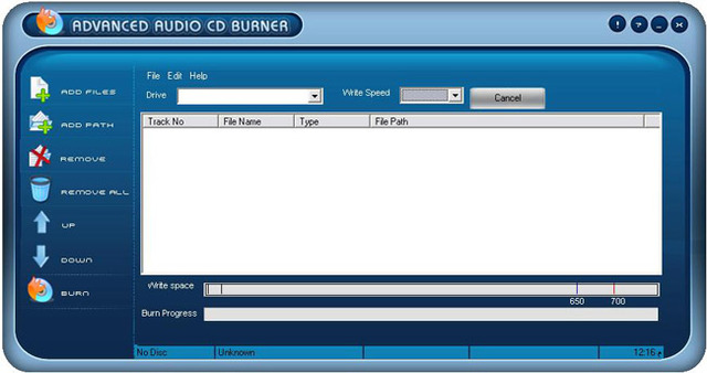 Advanced Audio CD Burner