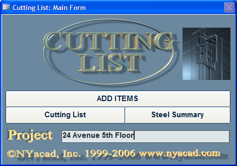 Cutting List