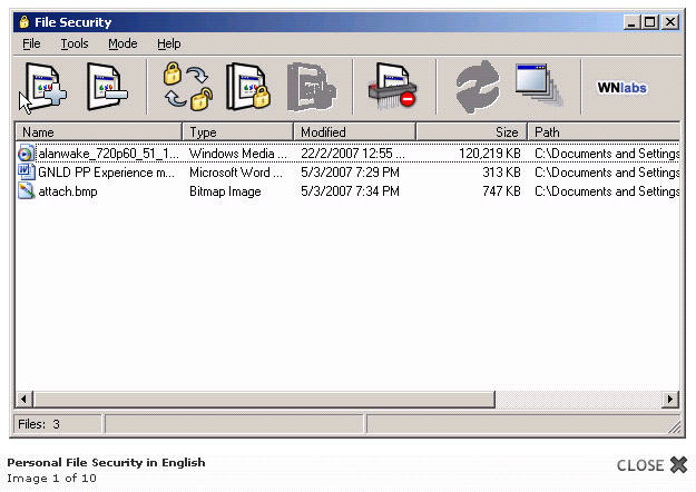Whitenoise Computer File Security