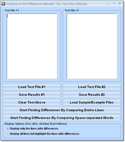 Compare Two Text Files Software